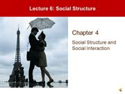 Lecture 6 - Status, Roles, and Social Structure