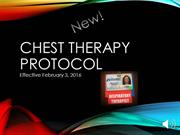 Chest Therapy Protocol