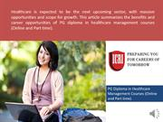 PG Diploma In Healthcare Management,  Diploma Clinical Research