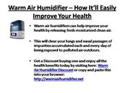 Warm Air Humidifier
