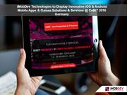 CeBIT 2016 Conference - iMobDev To Display iOS & Android Solutions