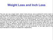 Weight Loss and Inch Loss