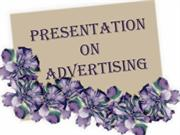Presentation on advertising