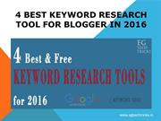 Best Keyword Research Tool for blogger in