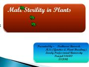 MALE STERILITY IN PLANTS