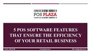 5 POS Software Features