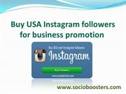 Buy USA Instagram followers for business promotion