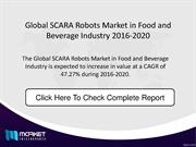 Global SCARA Robots Market in Food and Beverage Industry