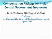 Compensation Package for Central Government Employees