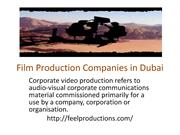Film Production Companies in Dubai