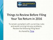 Things to Know When Filing Your Tax Return This Year