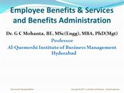 Employee Benefits & Services and Benefits Administration