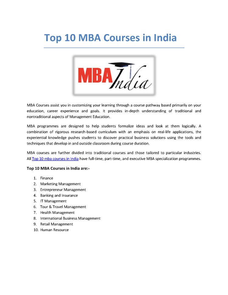 mba course A curated curriculum to learn essential components of an mba program includes courses from the world's top business schools.