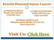Personal Injury Lawyer Stouffville - Kravitz Personal Injury Lawyer