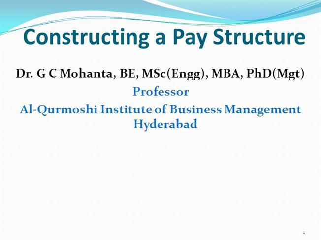 Constructing a Pay Structure |authorSTREAM