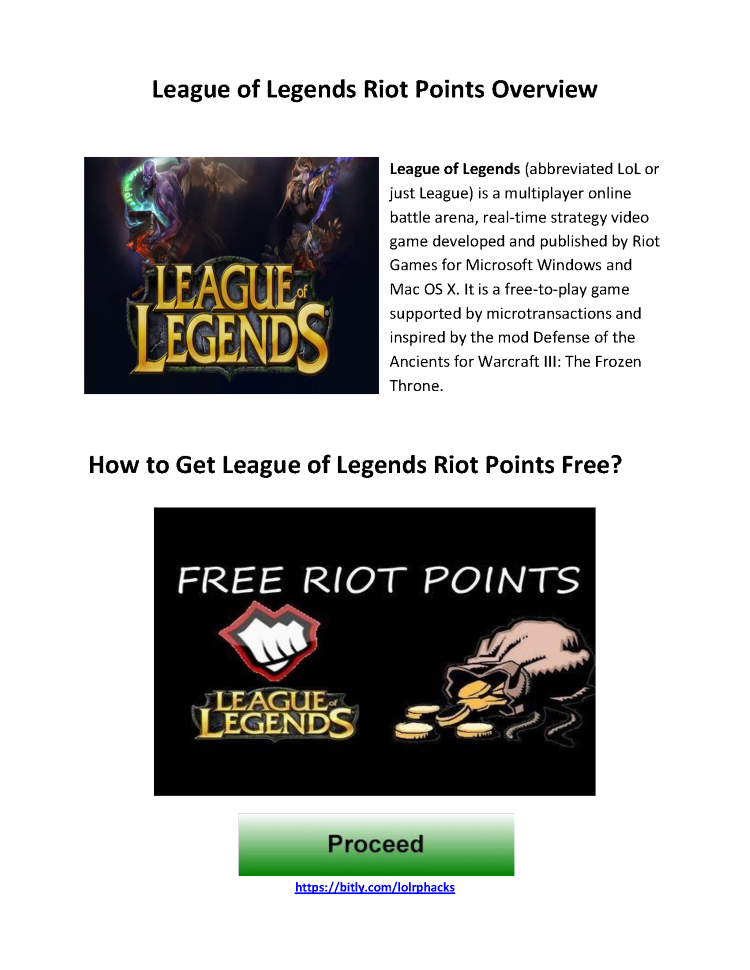 How to Get League of Legends Riot Points Free |authorSTREAM