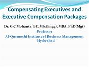 Compensating Executives and Executive Compensation Packages