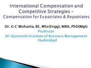 International Compensation and Competitive Strategies