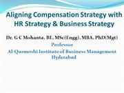 Aligning Compensation Strategy with HR Strategy & Business Strategy