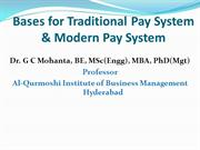 Bases for Traditional Pay System & Modern Pay System