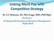 Linking Merit Pay with Competitive Strategy
