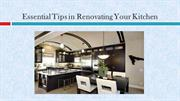 Essential Tips in Renovating Your Kitchen