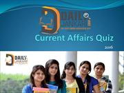 Current Affairs Quiz 2016
