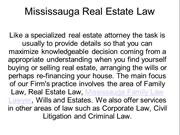 Mississauga Real Estate Lawyer