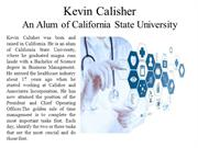 Kevin Calisher An Alum of California State University