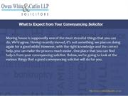 What to Expect from Your Conveyancing Solicitor