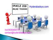 Oracle OSB Online Training |Oracle OSB Training in India.