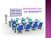 SAP FICO Online Training Certification   SAP FICO Training in India.