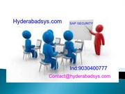 Sap security Online Training |SAP Security Training in India.