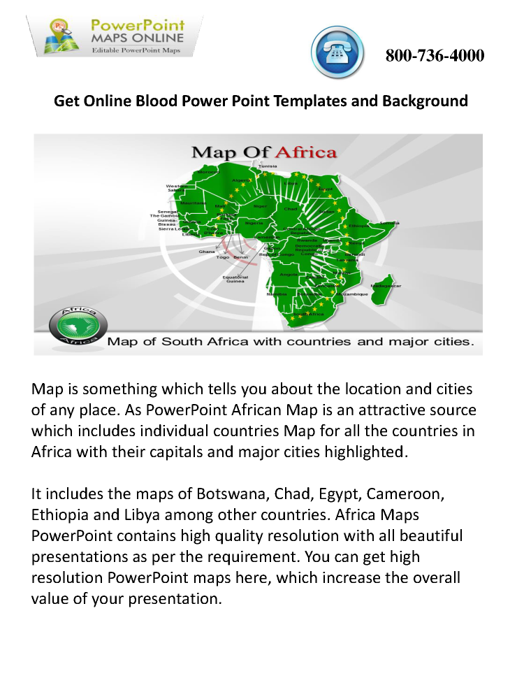 Online editable africa maps powerpoint presentations authorstream online editable africa maps powerpoint presentations toneelgroepblik Images