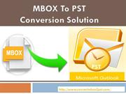 MBOX to PST Conversion Solution