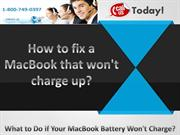 How to fix a MacBook that won't charge up
