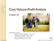 #20.3 -- CVP with Multiple Products and the High-Low Method (7.11)