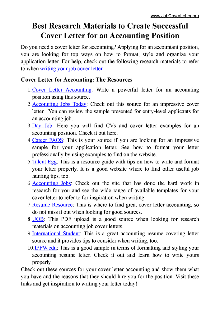 creating successful cover letters This is a great example of how to make a cover letter informal while still conveying the 'right successful cover letters from librarians and archivists.