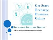 Mobile Recharge Software Development & Design Solution