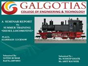 Ppt On Diesel Locomotive Engine Summer Training   Satish Kumar 2012-16