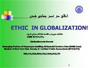 Ethics in Globalization Age