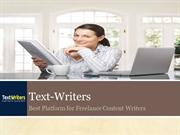 Text-Writers - Best Platform for Freelance Content Writers