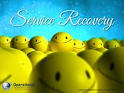 Service Recovery by Operational Excellence Consulting