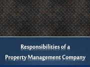 Responsibilities of a Property Management Company