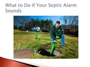 What to Do if Your Septic Alarm Sounds