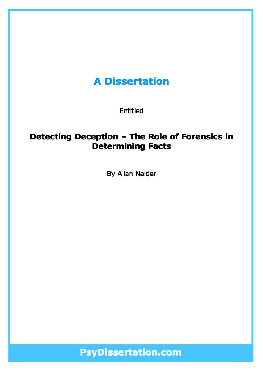 forensic psychology dissertation subjects Psychology phd thesis collection all of dspace communities & collections issue date authors titles subjects publication type sponsor this collection issue date.