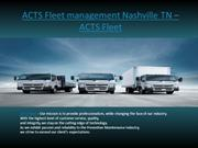 ACTS Fleet management Nashville TN – ACTS Fleet