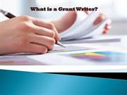 What is a Grant Writer