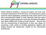 Godrej- No. 1 Material Handling Company Of The Year