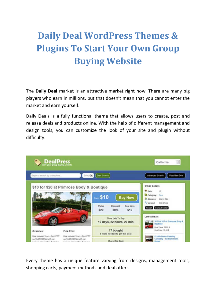 Daily deals wordpress themes free download : Groupon coupon code ...